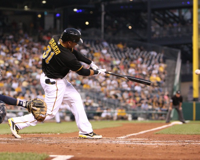 Jose Tabata accounted for the Pirates' lone hit Monday. (Photo Credit: David Hague)