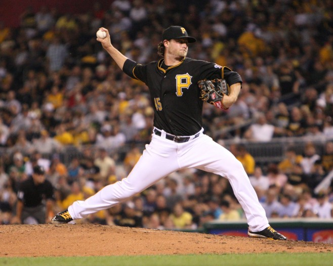 Gerrit Cole will start game two against the Cardinals. (Photo Credit: David Hague)