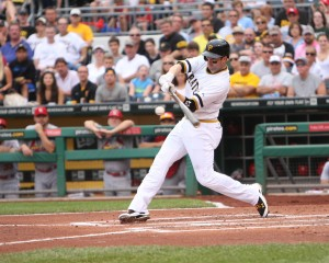 Neil Walker homered twice today. (Photo Credit: David Hague)