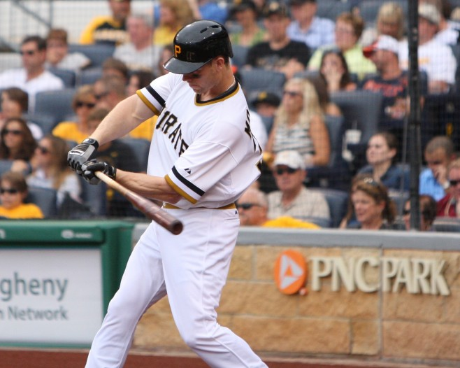 The Pirates move into first place thanks to Justin Morneau's go ahead RBI against the Cubs on Sunday. (Photo Credit: David Hague)