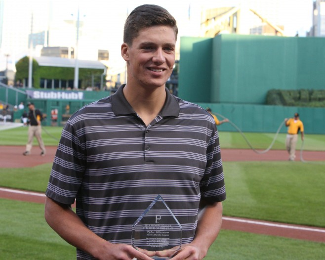 Tyler Glasnow was the Pirates' Minor League Pitcher of the Year in 2013. (Photo Credit: David Hague)