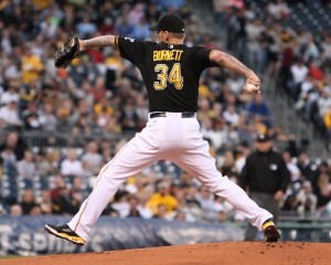 A.J. Burnett is 50-50 on returning to baseball next year. (Photo Credit: David Hague)