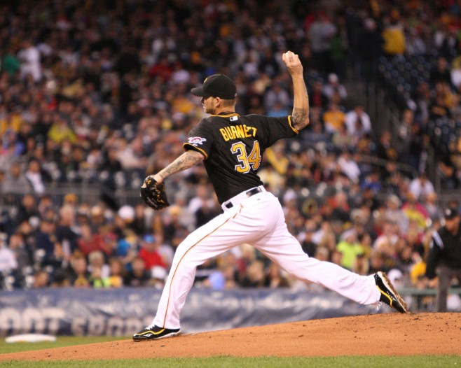 A.J. Burnett was listed as a potential bargain. (Photo Credit: David Hague)