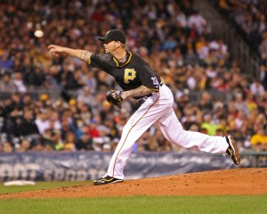 A.J. Burnett has struggled at Busch Stadium the last two years. (Photo Credit: David Hague)