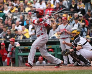 Brandon Phillips has been a Pirates killer, but might be moved by the Reds this off-season. (Photo Credit: David Hague)