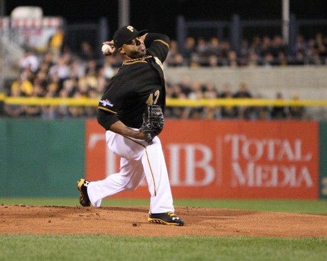 Francisco Liriano got out of a huge jam in the fourth inning tonight. (Photo Credit: David Hague)