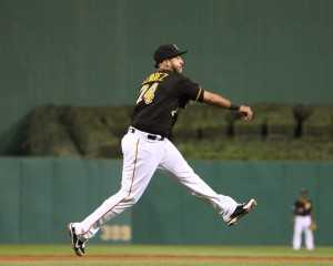 Pedro Alvarez has become one of the best power hitters in the majors, and has improved his defense at third base. (Photo Credit: David Hague)