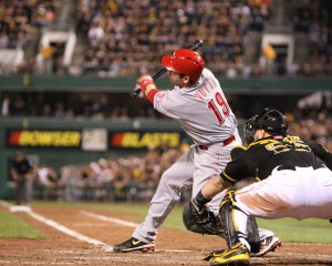 The Pirates owned Joey Votto last night. (Photo Credit: David Hague)