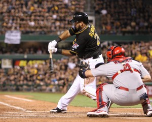 Pedro Alvarez came up with the clutch hit against left-handed pitcher Kevin Siegrist to give the Pirates a lead. (Photo Credit: David Hague)
