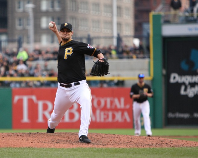 The Pirates have extended Charlie Morton for three years. (Photo Credit: David Hague)