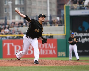 Charlie Morton led the league in ground ball percentage this year. (Photo Credit: David Hague)