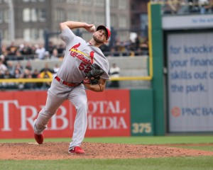 Michael Wacha pitched a gem today against the Pirates. (Photo Credit: David Hague)