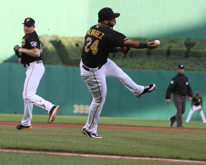Pedro Alvarez needs to continue improving his defense and walks, otherwise he's a one trick pony. (Photo Credit: David Hague)