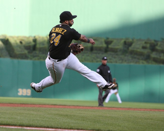 Pedro Alvarez is projected to make $4 M in arbitration. (Photo Credit: David Hague)