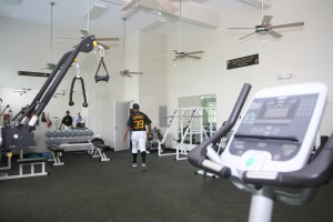One of the big reasons for success in the Dominican has been the ability to add muscle to skinny players, using weight rooms like the one pictured.