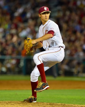 Luke Weaver faced NC State on Friday night - Image Credit: Florida State University