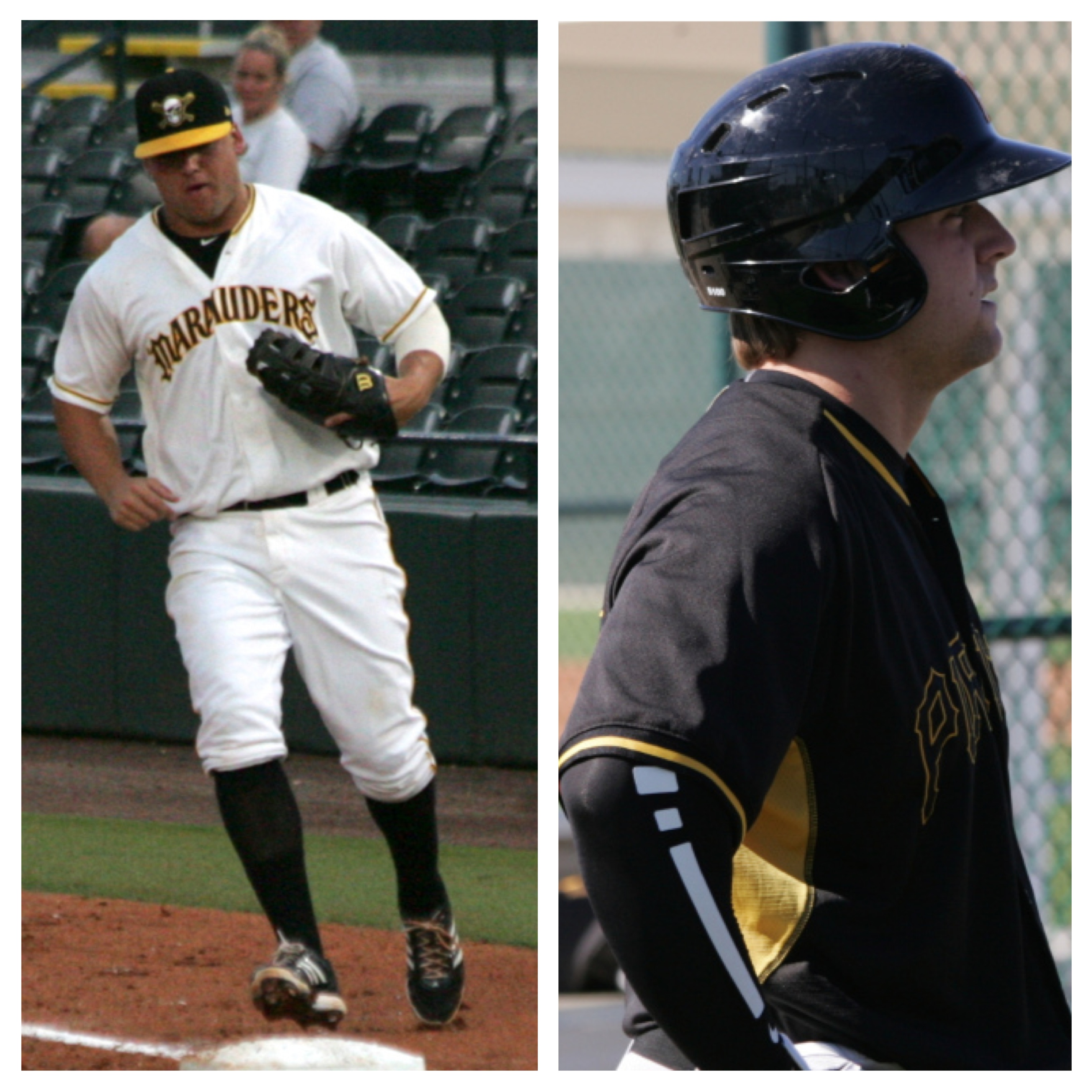 Left: Stetson Allie in 2013 Right: Stetson Allie in Spring Training