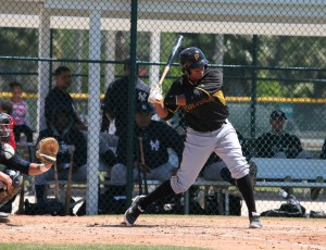 Elias Diaz is showing off some nice hitting to go with his defense this year.