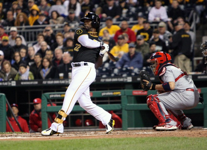 McCutchen is seeing over 10 percent more pitches per plate apperance this season. (Photo Credit: David Hague)