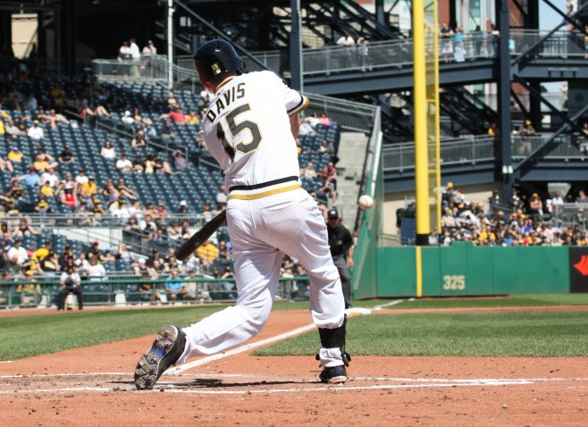 New addition Davis owns a career .357 OBP against right-handed pitching. (Photo Credit: David Hague)