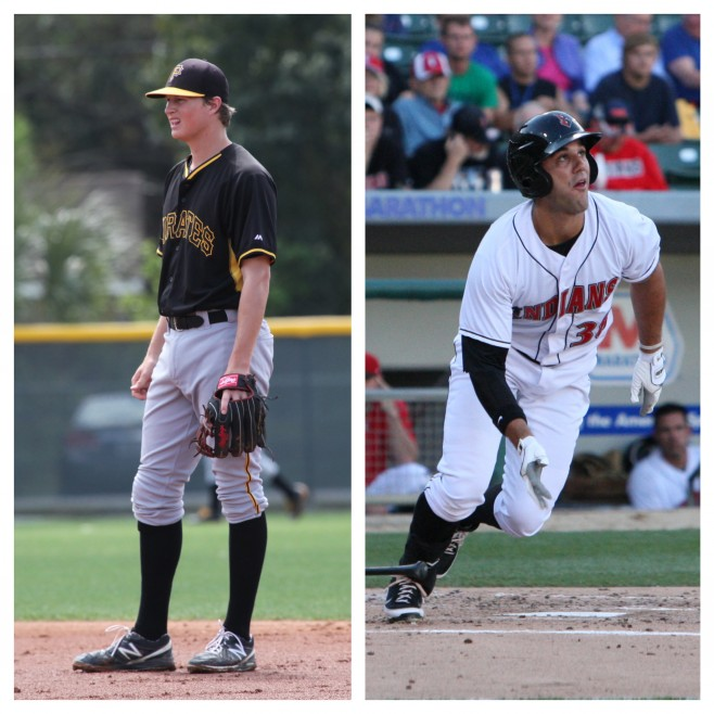Erich Weiss (left) and Andrew Lambo (right) also had huge weeks in the minors this past week. Photo Credits: WTM (Weiss), David Hague (Lambo)