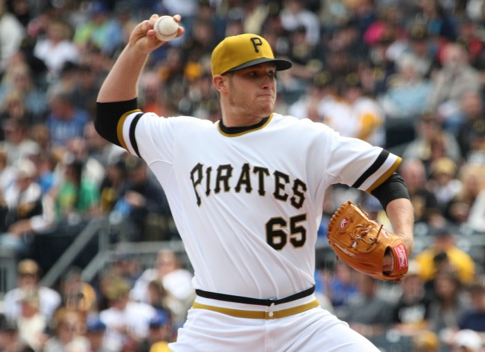 Sadler has pitched great this year, earning himself two stints with the Pirates (Photo by: David Hague)