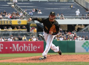 Cole hasn't pitched in three weeks due to right lat soreness (Photo Credit: David Hague)