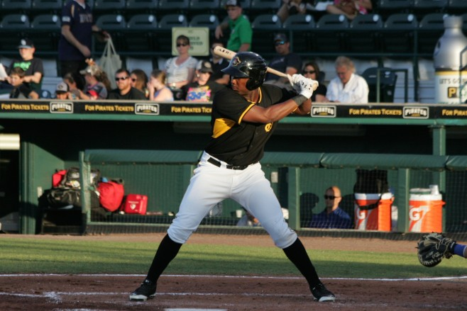 Josh Bell has the numbers for a promotion, but a weakness against left-handers.