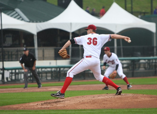 Nick Kingham has gone seven innings in each of his last two starts (Photo Credit: David Hague)