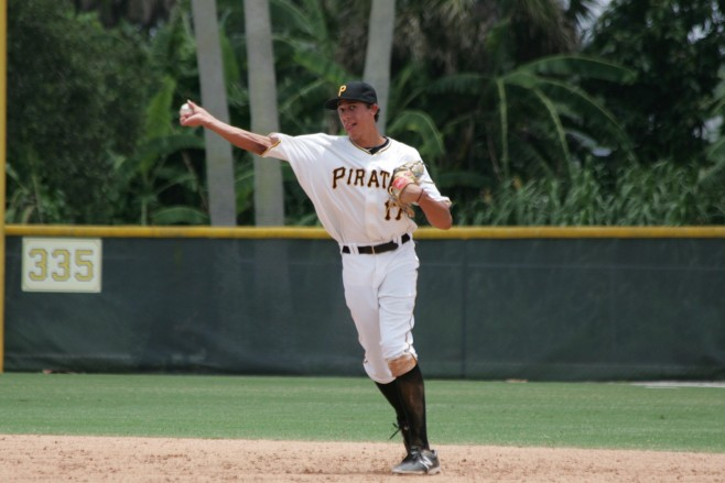 The Pirates selected Tucker in the first round of the 2014 draft.
