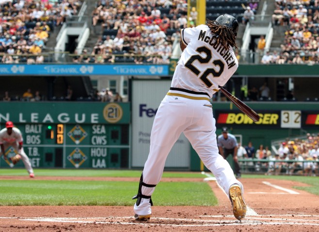 McCutchen leads the Pirates in nearly every major offensive category (Photo Credit: David Hague)