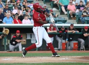 Josh Bell is taking his glove over to first base for the AFL (Photo credit: David Hague)