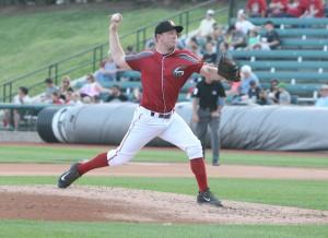 Sampson had a breakout season in Altoona in 2014. (Photo credit: David Hague)
