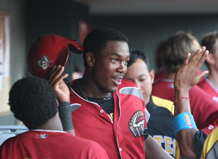 Josh Bell is the Pirates Prospects 2014 Minor League Player of the Year. (Photo credit: David Hague)
